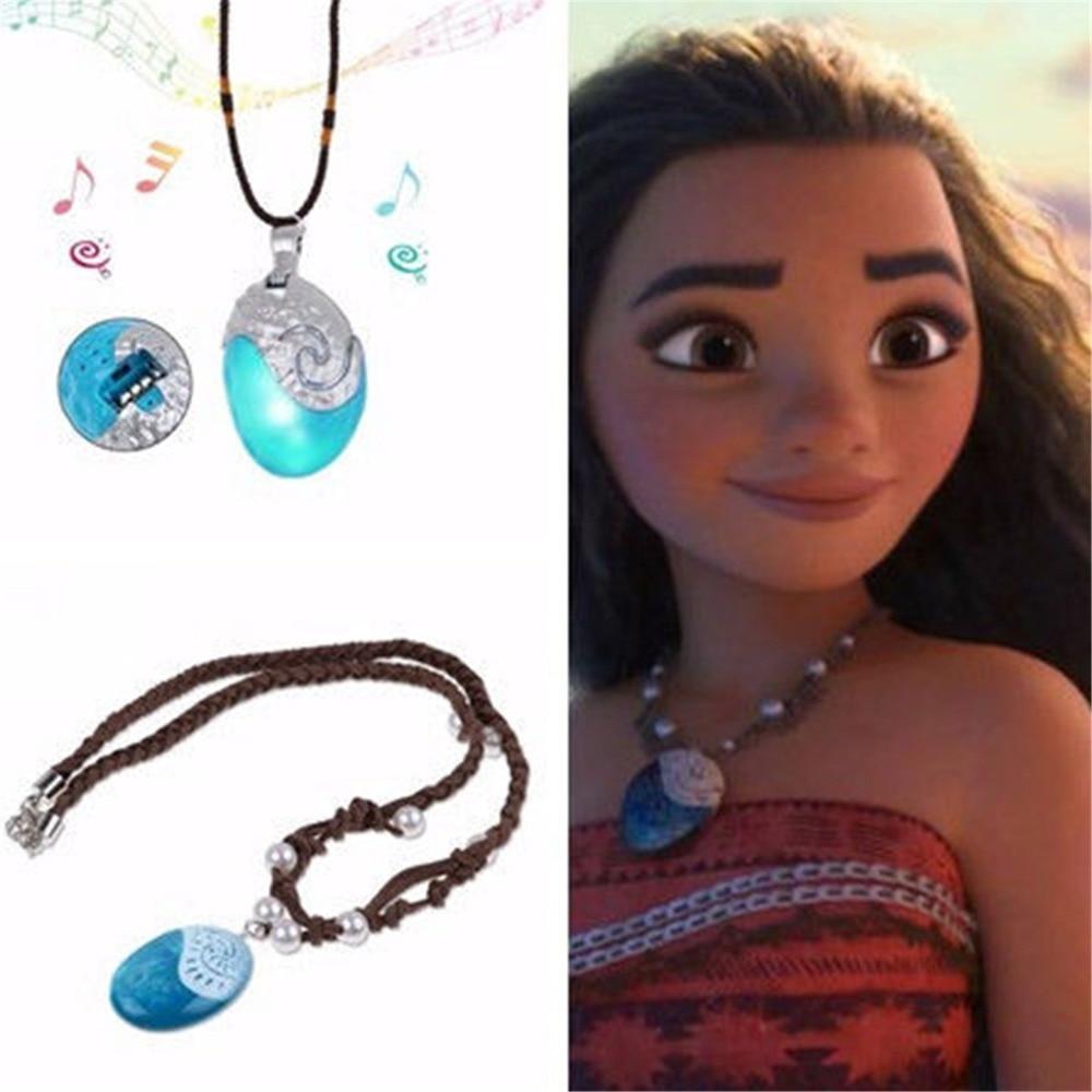 Moana Necklace Costume Cosplay Props Princess Heart of Te Fiti Women Beauty