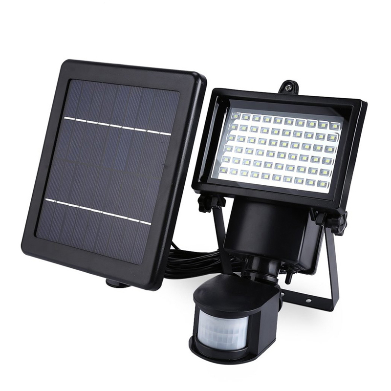 Superbright 60LED Solar Powered Security Lights Waterproof Outdoor Motion Sensor Lighting for Wall Patio Garden Landscape Lamp