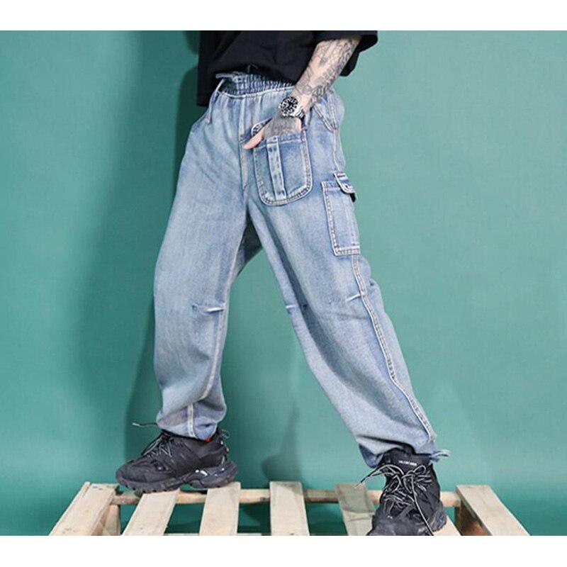 2019 New Men's Baggy Hip Hop Jeans Multi Pockets ...