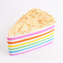 Jumbo Rainbow Fake Cake Decorating Squishy Crumble Fusion Kawai Slow Rising Food Squishies Antistress Toys For Kids Squeeze Toys(China)