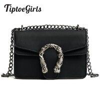 Tiptoegirls Fashion Women Bags New Design Girls Shoulder Bags Diagonal Quality Leather Lady Handbags Vintage Chains