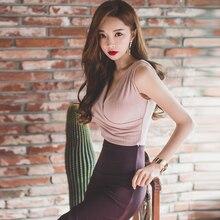 Elegant pink party ball club night formal dress long tight maxi