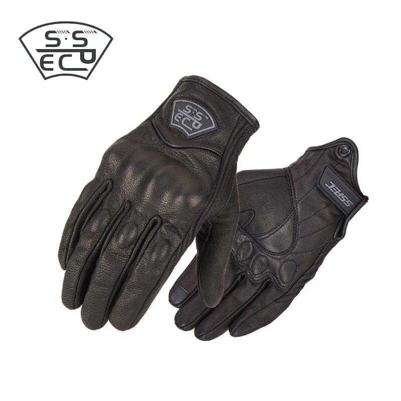 SSPEC Moto rcycle rękawice ekran dotykowy mężczyźni prawdziwej skóry kolarstwo wyścigi motocyklowe guantes de rękawice motocyklowe de moto cicleta