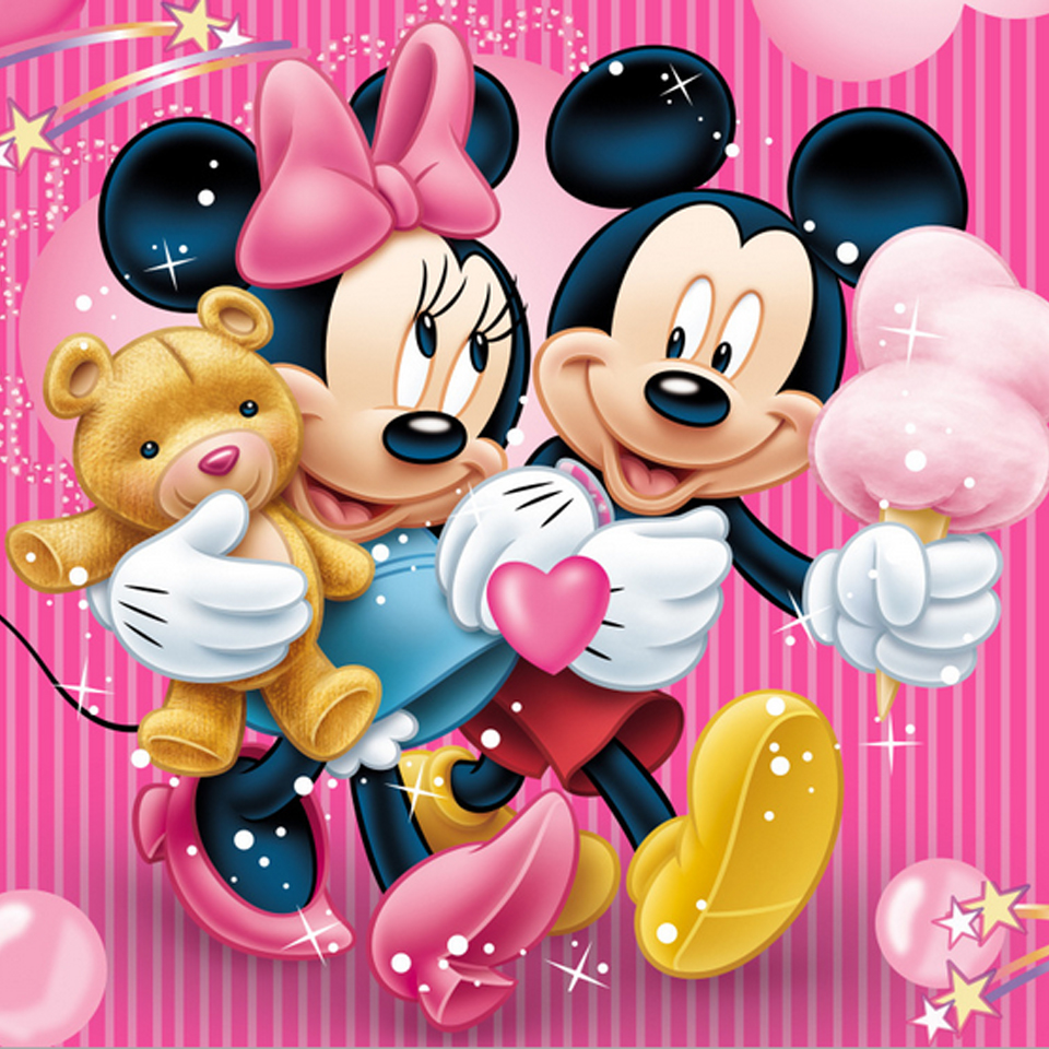 online get cheap minnie mouse kit aliexpress com alibaba group mickey mouse and minnie diamond embroidery painting cross stitch full crystal rhinestones crafts kits for needlework home decor