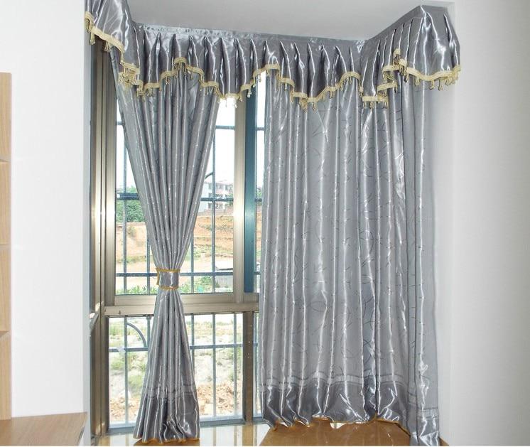 cortinas para el dormitorio sala de estar costo de incluido gris plata moderna de tela