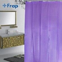 Frap – rideau de douche étanche en plastique PEVA 3d, rideau de salle de bain de luxe violet avec crochets, 180x180cm, F8701 F8751, nouveau