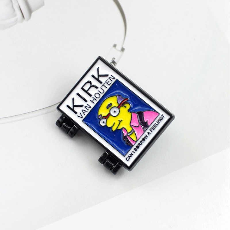 Planet Series เข็มกลัด Space Cosmic Planet Trajectory UFO KIRK Apace สถานี Enamel Pin Coat Lapel Cool Badge Sci-fi คนรักของขวัญ