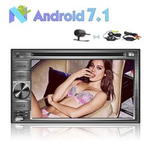 "6.2"" 2 Din Android 7.1 Car Stereo Radio GPS Navigation DVD Player Support 4G WIFI Bluetooth Mirror Link+Wireless Backup Camera"