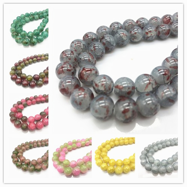 Latest Explosion  Czech Glass Charm Floral beads Loose Spacer Beads Stone DIY Jewelry 1