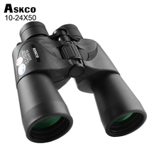 Askco 10-24X50 Zoom Waterproof Binoculars Powerful Wide-angle Telescope Night Vision Prower binoculars No Infrared for Hunting