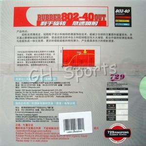 Image 3 - RITC 729 ידידות 802 40 מסתורין III פיפס out קצר טניס שולחן פינג פונג גומי עם ספוג עובי 2.2mm