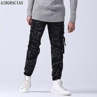 AIRGRACIAS Männer Hohe Qualität Herbst Stil Modemarke Kleidung Solide herren 100% Baumwolle Material Camouflage Lange Cargohose