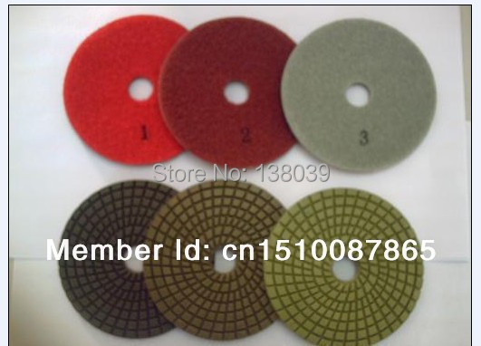 4'' Best Quality Diamond 3 Step Wet Flexible Polishing Pads For Granite Marble
