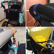 1Pcs New Plastic Stroller Cup Holder Pram 2 Hooks Nylon Pushchair Car Hanging Strap Portable Baby Stroller Accessories(China)