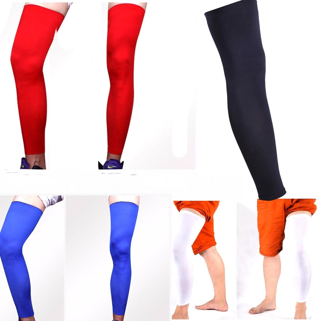 Good Quality Knitted Basketball Cycling Men Women Leg Warmers Elastic Stretch High Socks Skinny Stockings Sports Leg Sleeve