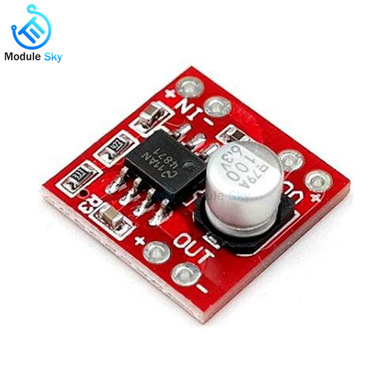 Mini LM4871 Mono Amplifier Board DC 3-5V 3W Digital Audio Small Speaker Module Low Noise Stereo For Car MP3 DIY Kit