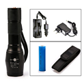 6000 Lumens Flashlight CREE XM-L T6 Torch High Power Adjustable LED Flashlight +DC/Car Charger+18650 Battery+Holster Holder