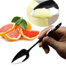 Детские Ложки для грейпфрута из нержавеющей стали, ложка c длинной ручкой, пила, зуб, скребок, ложка, фрукты, овощи, инструменты, кухонные гаджеты