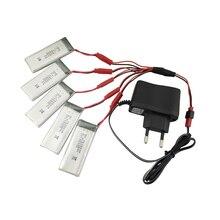 Teeggi 8807 W 900 mah 3.7 V Lipo Bateria com Plug Euro AC carregador para 8807 RC Drone Quadcopter Peças De Reposição Helicóptero VS XS809W