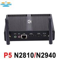 Intel Celeron Pentium N2810 N2920 N3510 J2850 Çift HDMI Palm ölçekli 4 GB RAM 64 GB SSD ile Fansız Mini PC USB 3.0