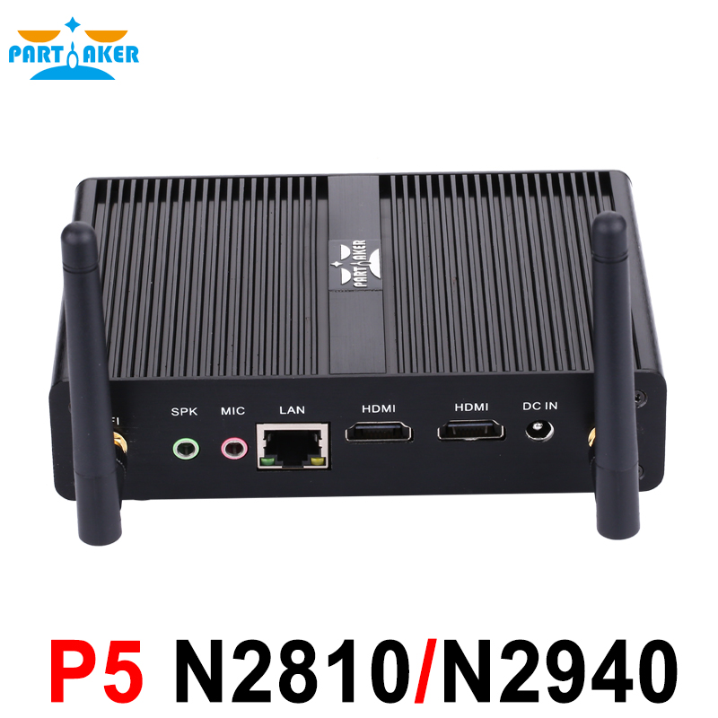Intel Celeron Pentium N2810 N2920 N3510 J2850 Dual HDMI Palm Sized Fanless Mini PC with 4GB RAM 64GB SSD USB 3.0 vorke v1 intel braswell celeron j3160 4g ram 64g ssd windows10 mini pc