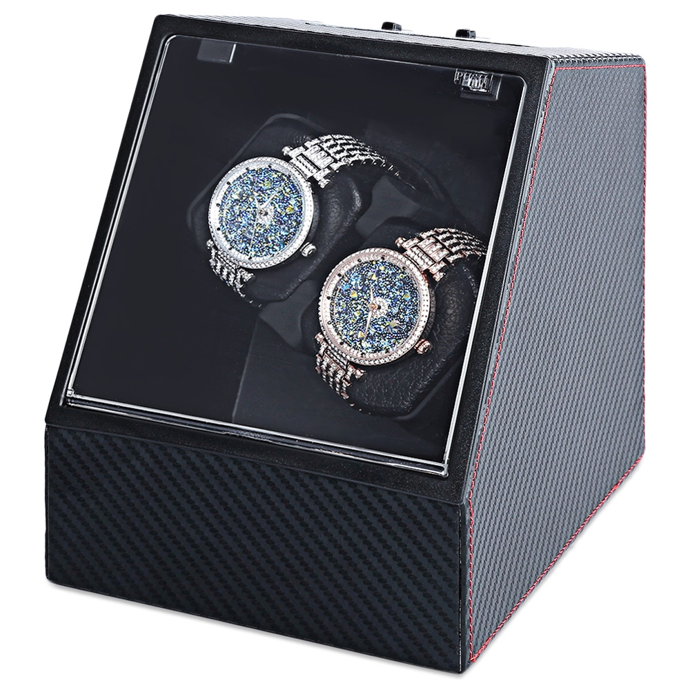 LEFTLY Carbon Fiber Auto Silent Watch Winder Irregular Box