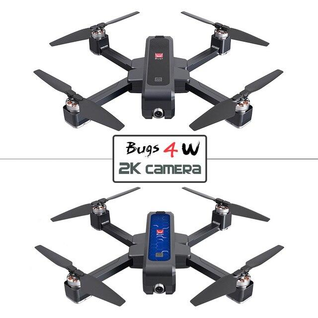 2019 nuovo Mjx Bugs 4w B4w Gps Brushless Pieghevole Rc Drone 5g Wifi Fpv Con 2k Camera anti shake di Flusso Ottico Rc Quadcopter Vs F11