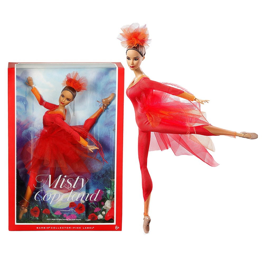 Original Barbie Barbie Prima ballerina Misty Copeland Misty Copeland Doll Models Birthday Christmas New Year gift For Girls кий cuetec short veltex 1pc рп 0000 004h