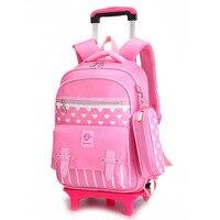 471c2f7e0053 High Capacity Student Shoulder Backpack Satchel Mochila Rolling Luggage  Children Trolley Suitcase Wheel Travel Duffle School