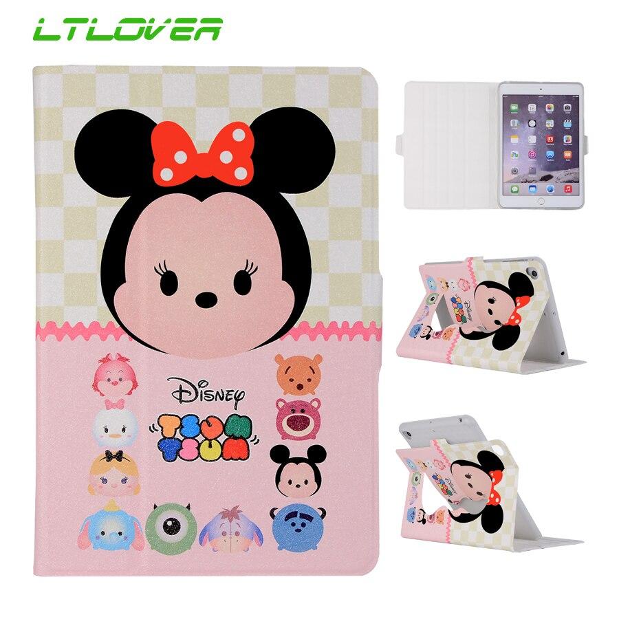 For iPad Mini 1 2 3 Cute Mickey Hello Kitty Stand Magnetic Smart Auto Sleep Wake Up Tablet Case For iPad Mini 3 2 1 7.9 A1455