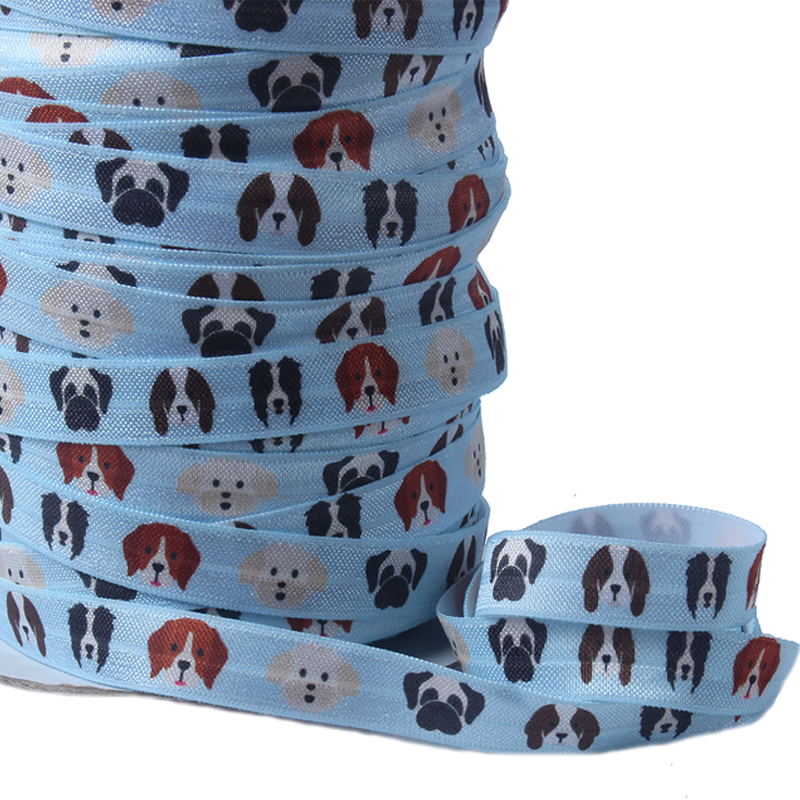 Cute dog printed elastic ribbon for charity occasion