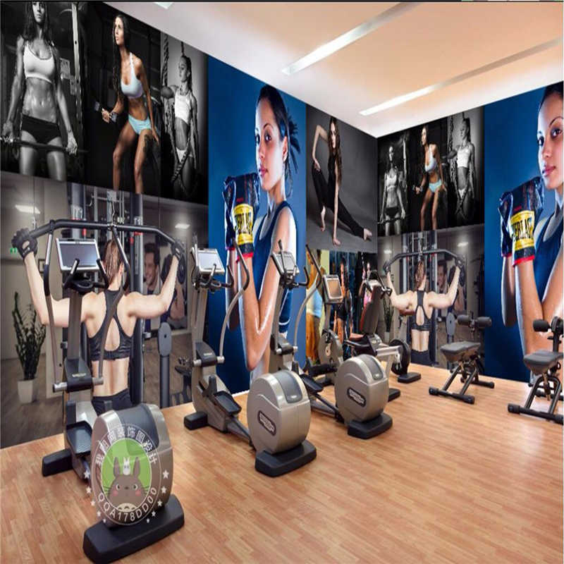 Wall decor paper d sexy body bodybuilding boxing gym room living