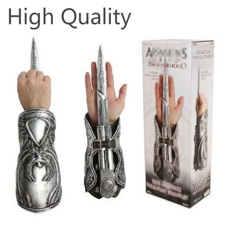 Wholesale Costume Assassins Creed 3 Hidden Blade PVC Action Figure Edward Kenway Assassin Creed Hidden Blade Model Kids Toys new hot game assassin s creed unity edward kenway phantom blade lame fantome 1 1 scale mcfarlane hidden blade box