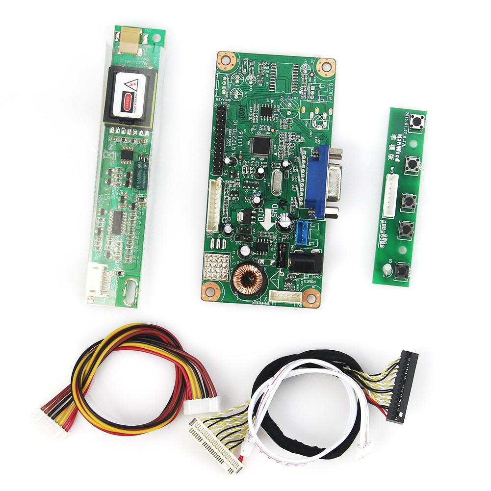LCD/LED Control Driver Board (VGA)  For LTN154X3 N154I3  1280x800 LVDS Monitor Reuse Laptop