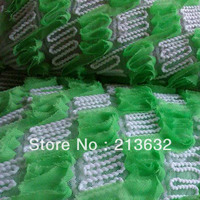 jacquard lace grace elegance flower curtains embroidery Green hollow the stereo rope african lace wax swiss voile laces fabric