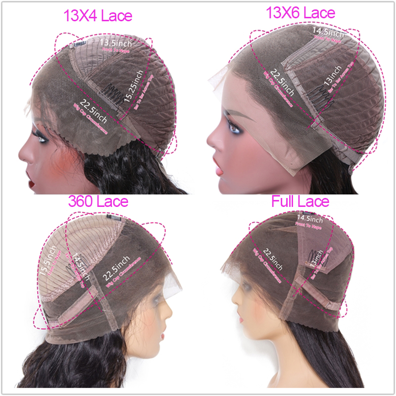 Klaiyi cabelo brasileiro em linha reta remy peruca de cabelo 12 26 Polegada 13x6 perucas de renda frontal 150% densidade peruca de cabelo humano #613 cor natural - 4