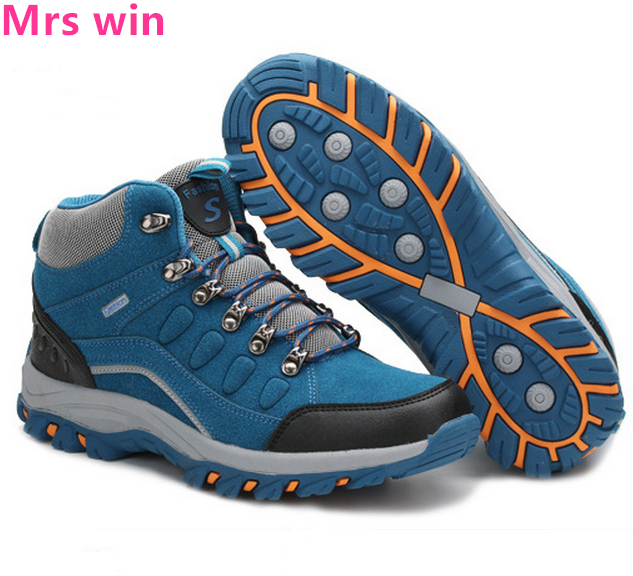 Winter Women Hiking shoes plush warm Boots Waterproof Outdoor style Non-slip Camping tactics Climbing Sport shoes men Sneakers