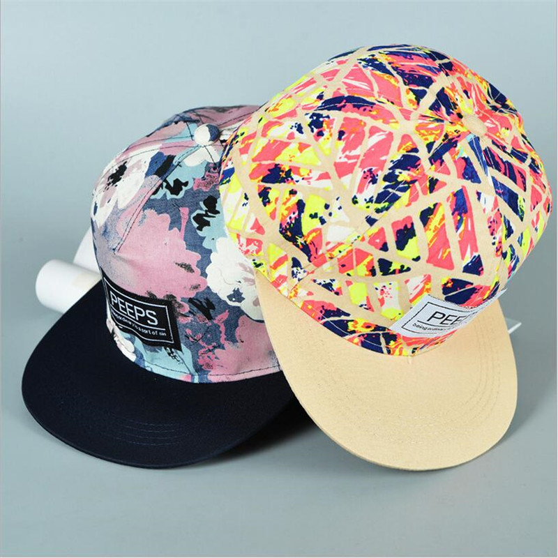 2018 hot selling Spring Men Women New Arrival Unisex Snapback Adjustable   Baseball     Cap   Hip Hop hat Cool Floral cool & handsome