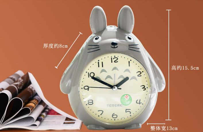 EMS 20 pieces Totoro Cartoon New Digital Snooze LED Alarm Clock Backlight Time with Calendar Thermometer