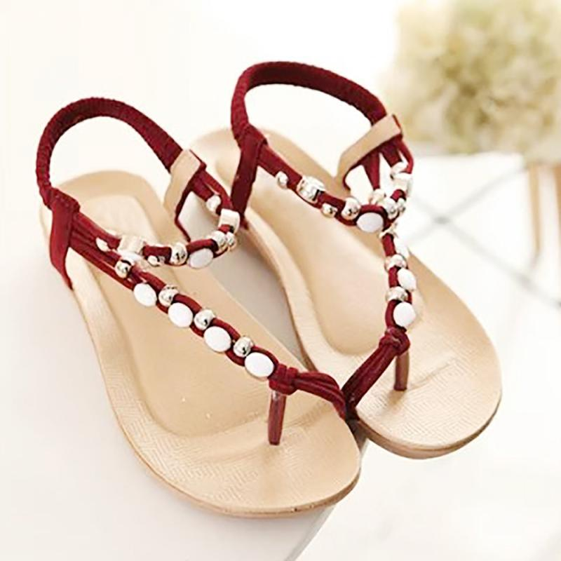 91e5e2875db7 2018 New summer shoes women fashion flat Sandals Leisure Bohemia Ladies  beach Flip Flops Soft casual female Sandals shoes 3.28-in Women s Sandals  from Shoes ...