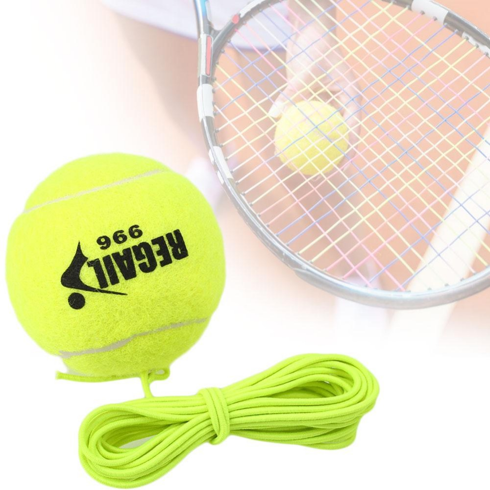 1Pc Tennis Ball With String Trainer Replacement Rubber Woolen Training Tool Sport String Elastic Rope Exercis Outdoor