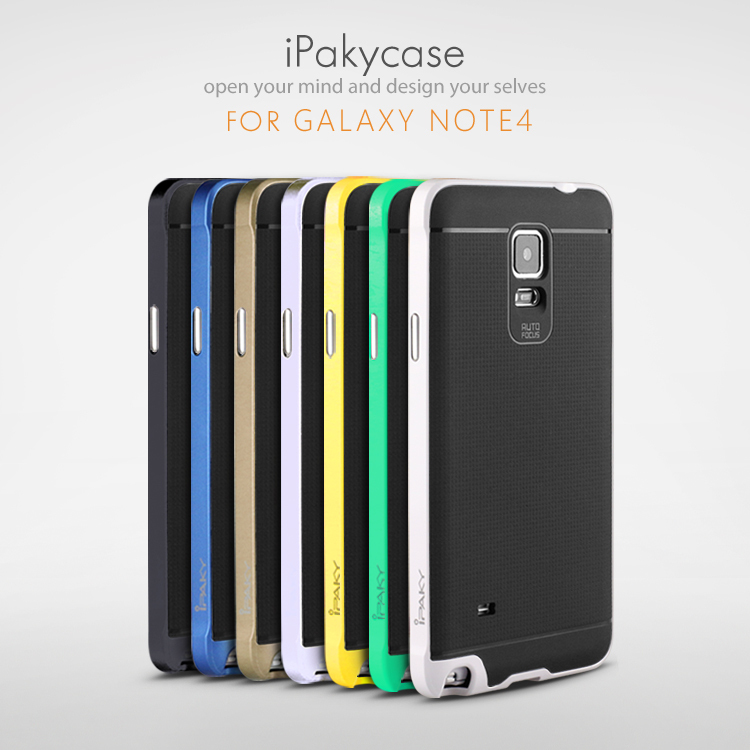super popular 26fb9 9b8d8 US $4.99 |High quality Original ipaky brand case for Samsung note4 silicone  protective cover for galaxy note 4 in stock,free shipping -in Fitted Cases  ...