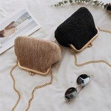 Small Crossbody Boho Bags Clutch Handbag Straw Rattan SF
