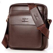 Luxury Brnad Kagaroo Men Messenger Bag For Man Leather Shoulder Bag Male Crossbody Bag Casual Business Men's Bag Black Mini Flap