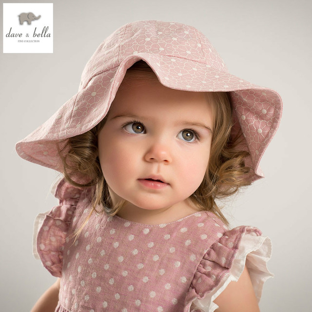e80c5eb142c60 DB5273 dave bella summer baby girls jasmine printed hat girls flower bucket  hat floral bucket pink hat