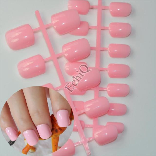 Schone Form Flache Nail Art Dekoration Tipps Baby Rosa Falsche Nagel
