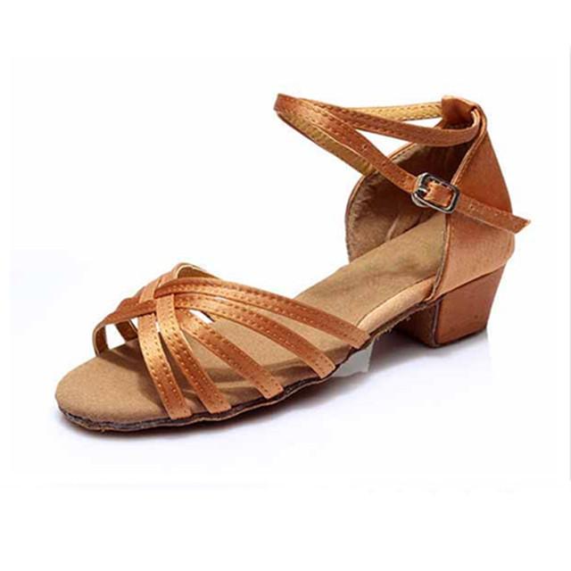 Satin Latin Dance Shoes For Girls Woman Zapatos Salsa Mujer  Ballroom Zapatos De Baile Latino Mujer WZSP