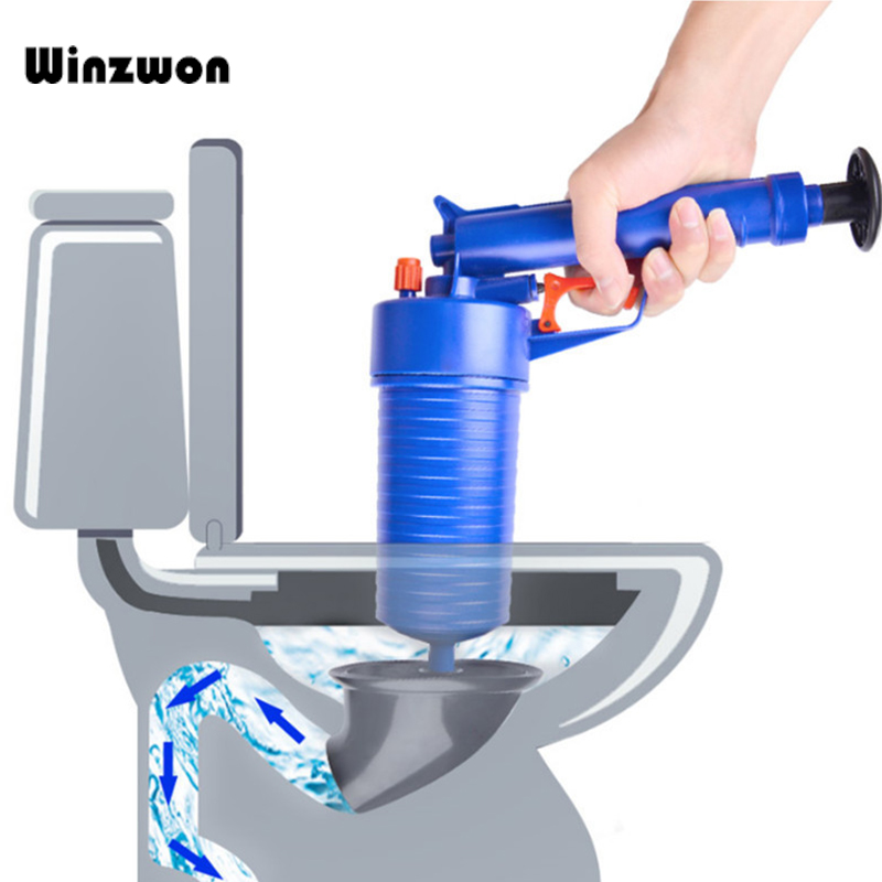 Collection Here High Pressure Air Drain Pipe Dredger Plunger Drain Cleaner Bathtub Toilet Cleaner Bathroom Accessories Household Cleaning Tools To Prevent And Cure Diseases