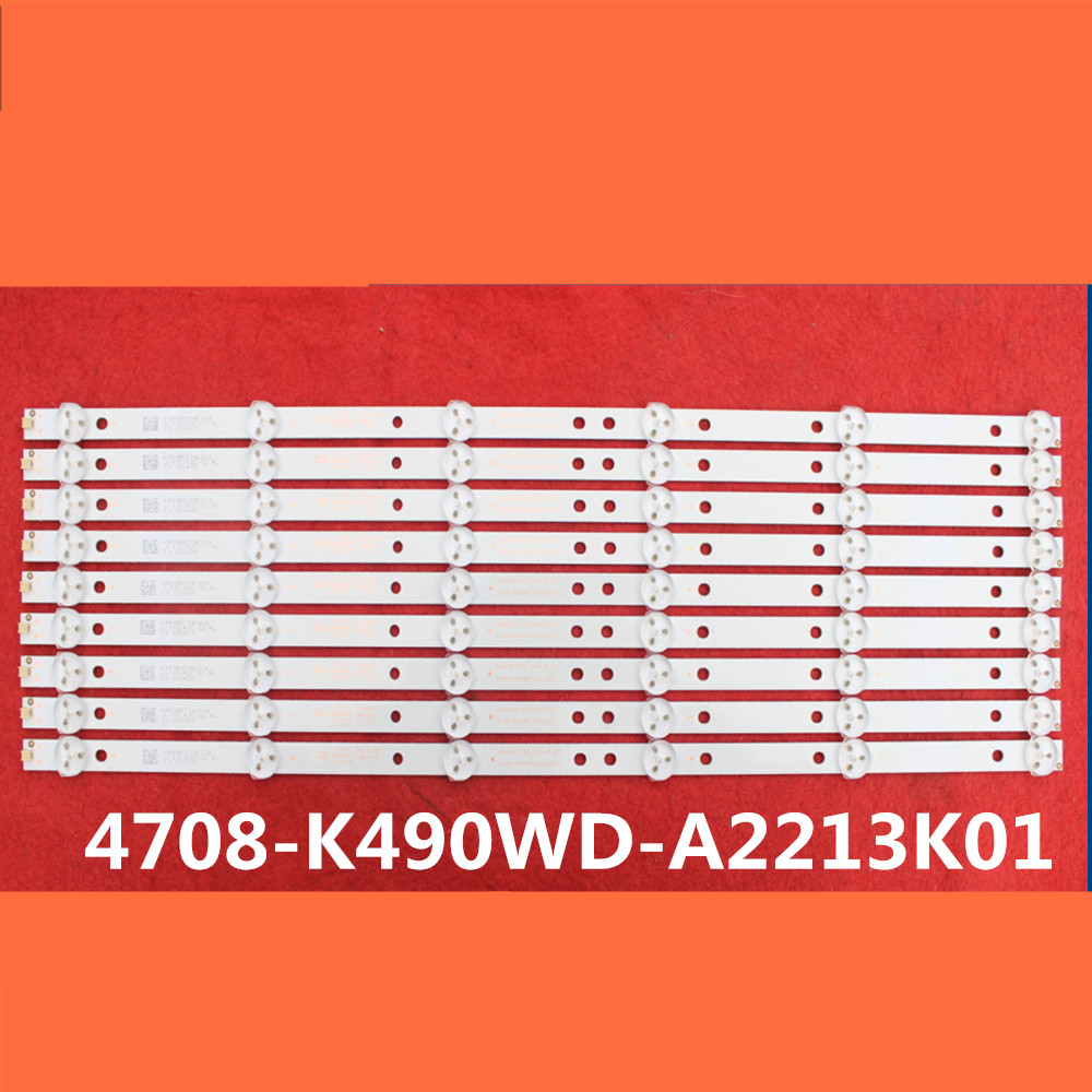 1set 9pcs LED strip for Philips 49inch TV 49PUF6050 T3 backlight K490WD7 A1 4708 K490WD A2213K01