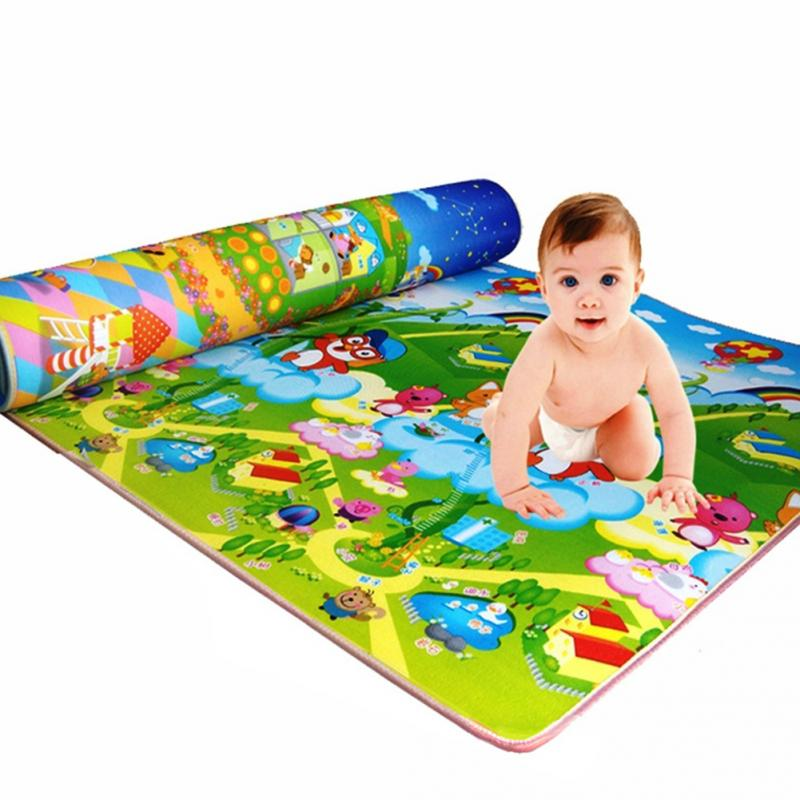 1.2/1.5/2*1.8m Waterproof Plastic Film Children Play Mat Baby Crawling Rug Carpet Blanket Kids Toy Birthday Gift Baby Present 120cm play mat baby blanket inflant game play mats carpet child toy climb mat indoor developing rug crawling rug carpet blanket